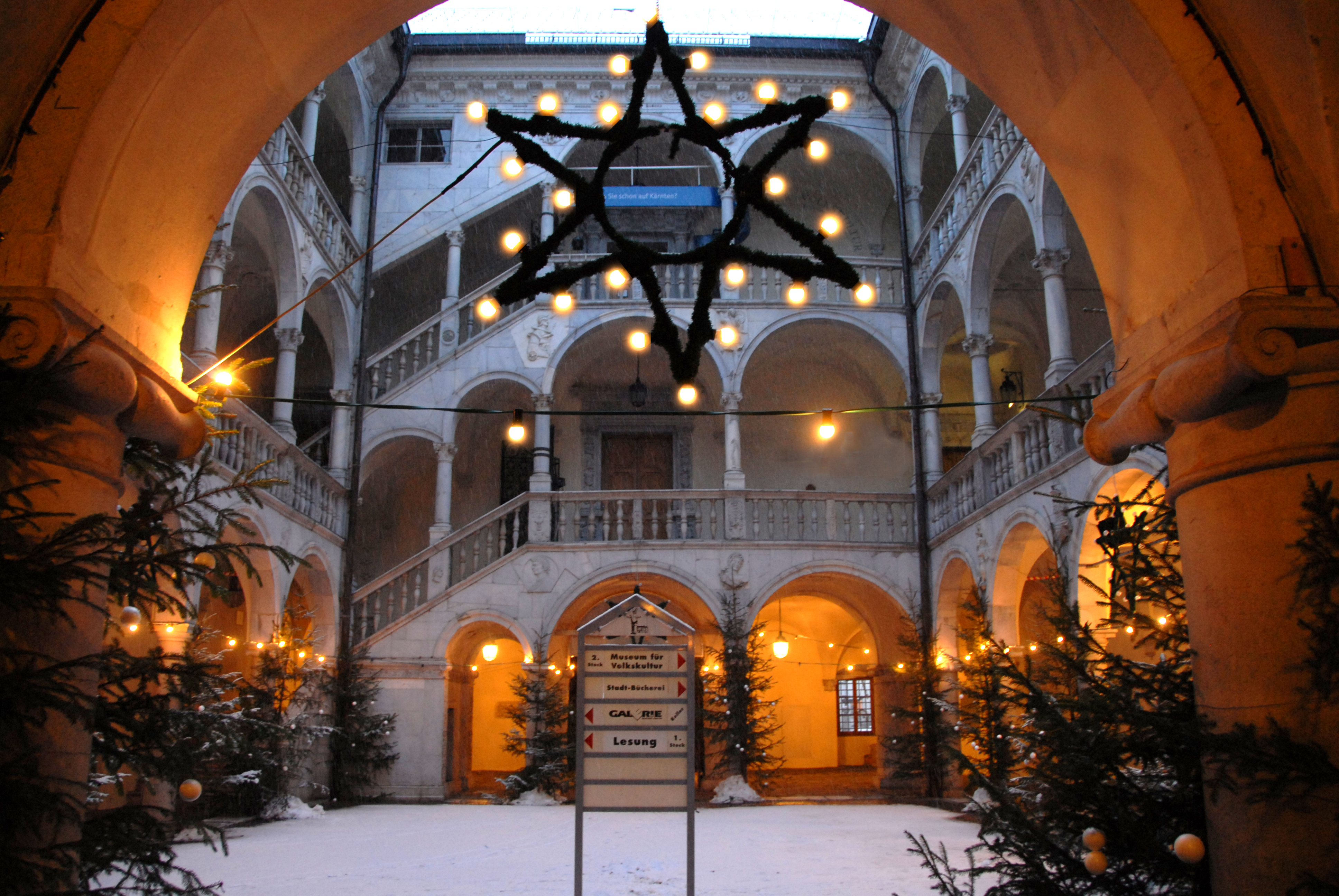 Innenhof Winter